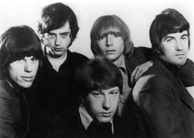 The Yardbirds, 1966. From left to right: Jeff Beck, Jimmy Page, Chris Dreja, Keith Relf and Jim McCarty.