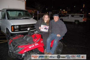 Look at this great ATV that Josie won from Great Lakes Wine and Spirits!