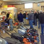 The store was packed with customers today for the open house.