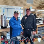 Here's Major Discount with the owner of Ward's Outdoor Equipment and Repair