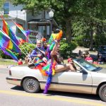 The U.P. Rainbow Pride Float