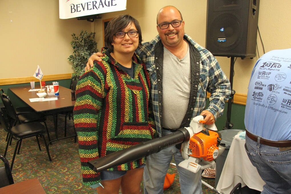 Mike Jarvis winner of the Stihl Blower from Four Seasons