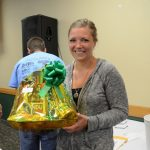 Ashley Perry from Ishpeming with her gift basket from Super One Foods
