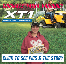 Tasha Vangundy won the Cub Cadet Mower