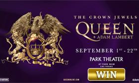 Win Tickets to see Adam Lambert & Queen in Vegas