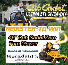 Win the Zero Turn Mower from Bergdahl's