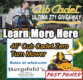 Win the Zero Turn Mower from Bergdahl's