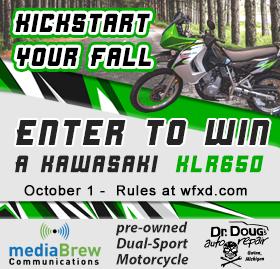 Win a Kawasaki KLR650 Motorcycle