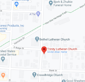 Get Directions to Trinity Lutheran Church