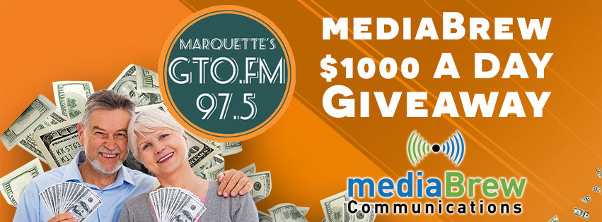 Three times a day to win $1000 on GTO 97.5