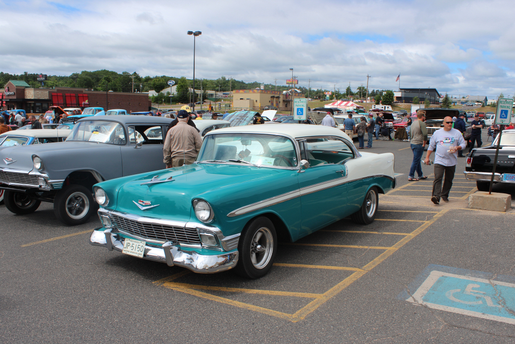 Check out this cool Chevy Bel-Air from 1956!