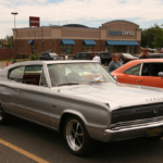 Three-quarters view of a Dodge