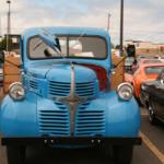 A blue Dodge Truck