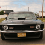 Front view of a Ford Mustang