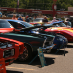 A range of colors found at the Car Show