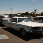 A white car at the car show