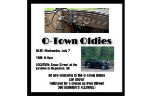 O-Town Oldies Car Show July 7, 2021